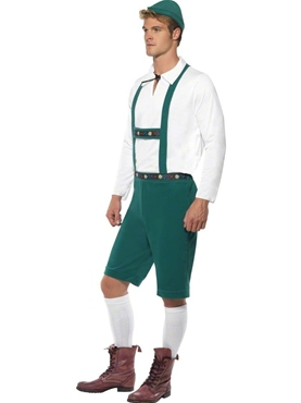 Adult Oktoberfest Beer Man Costume - Back View