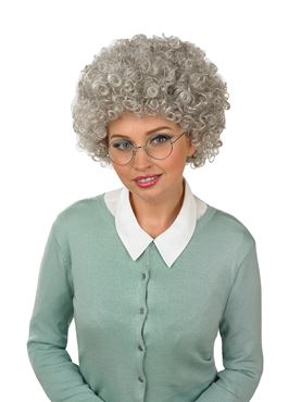 Adult Grey Pop Afro/Granny Wig