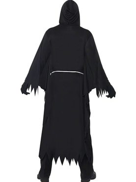 Adult Black Grim Reaper Costume - Side View