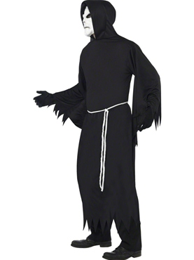 Adult Black Grim Reaper Costume - Back View