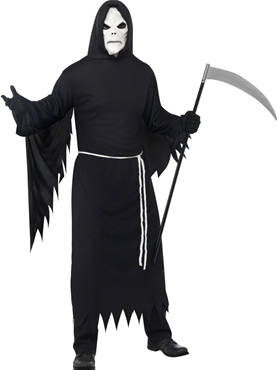 Adult Black Grim Reaper Costume