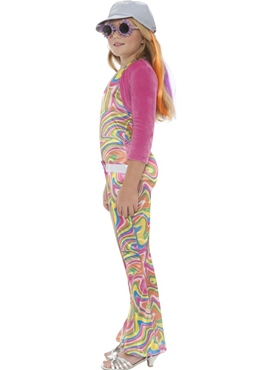 Child Groovy Glam Child Costume - Back View