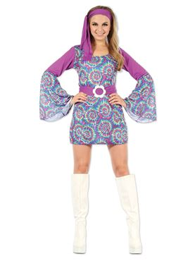 Groovy Psychedelic Hippy Lady Costume