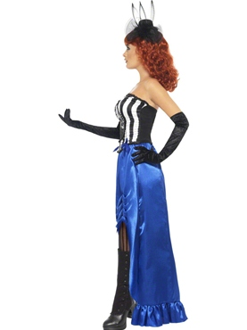 Adult Grotesque Burlesque Pin Up Costume - Back View