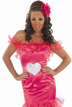 Adult Gypsy Wedding Pink Bridesmaid Costume - Back View