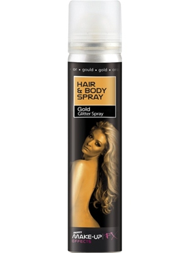 Hair and Body Spray UV Gold Glitter