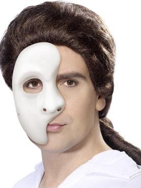 Half Face Phantom Mask Pvc Couples Costume
