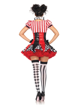 Adult Harlequin Clown Costume - Back View