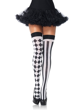 Adult Harlequin Thigh Highs