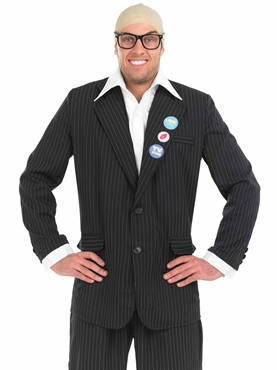 Adult Comedy TV Host Harry Hill Costume - Back View