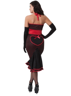 Havanna Hurricane 50's Style Burlesque Costume - Back View