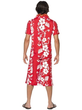 Adult Hawaiian Hunk Costume - Back View
