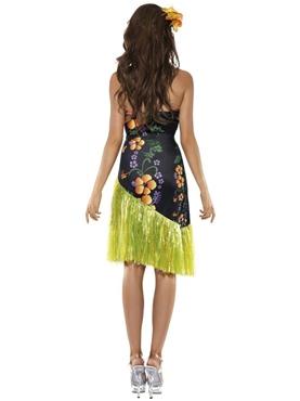 Adult Hawaiian Luscious Luau Costume - Back View