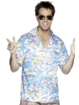 Adult Blue Hawaiian Shirt