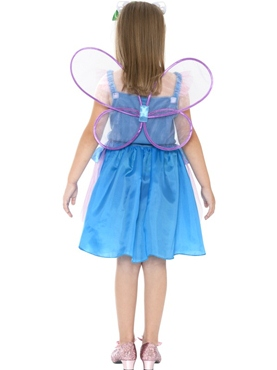 Child Hello Kitty Butterfly Fairy Costume - Back View