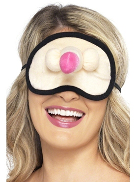 Hen Night Plush Willy Eyemask - Back View