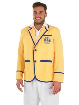 Adult Hi De Hi Male Yellow Coat Costume - Back View