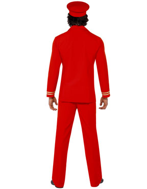 Adult High Flyer Pilots Costume - Back View