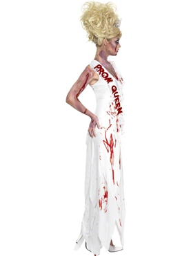 Adult Zombie Prom Queen Costume - Side View