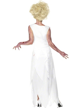 Adult Zombie Prom Queen Costume - Back View