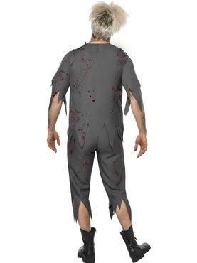 Adult Zombie School Boy Costume - Back View