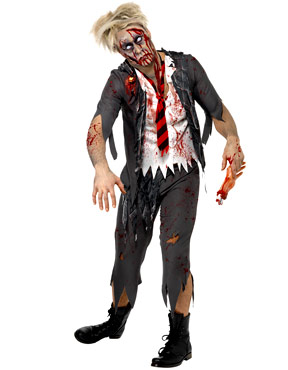 Adult Zombie School Boy Costume Couples Costume