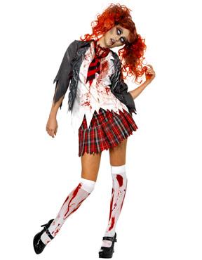 Adult Zombie School Girl Costume