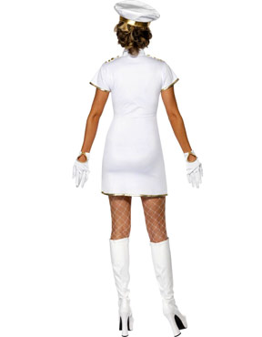 Adult High Seas Captain Costume - Back View