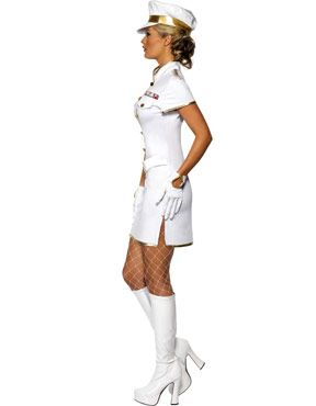 Adult High Seas Captain Costume - Side View