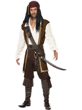 Adult High Seas Pirate Costume Couples Costume
