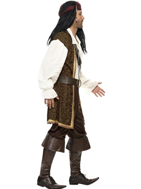 Adult High Seas Pirate Costume - Back View