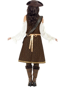 Adult High Seas Pirate Wench Costume - Side View
