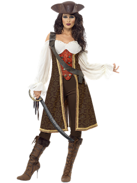 Adult High Seas Pirate Wench Costume Couples Costume