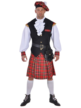 Deluxe Highland Scottish Man Costume
