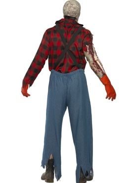 Adult Hillbilly Zombie Costume - Side View