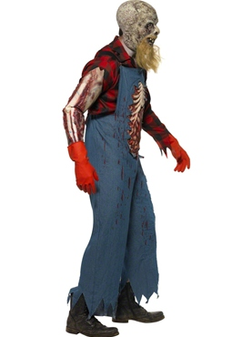 Adult Hillbilly Zombie Costume - Back View