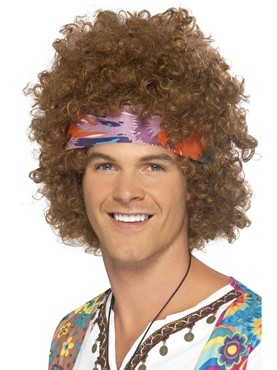 Hippy Afro Wig with Headscarf
