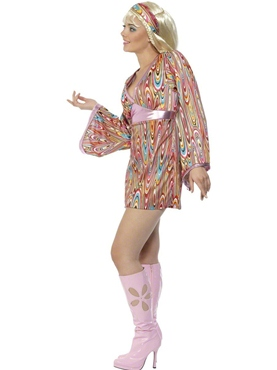 Adult Hippy Hottie Costume - Back View