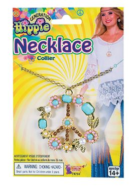 Hippie Peace Sign Necklace