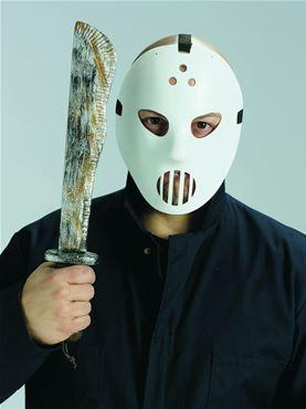 Hockey Mask & Machete Set Couples Costume