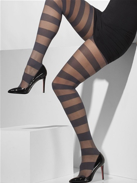 Horizontal Striped Tights - Back View