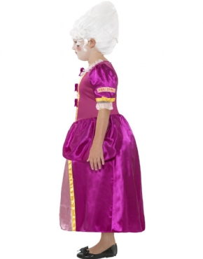 Child Horrible Histories Georgian Girl Costume - Back View
