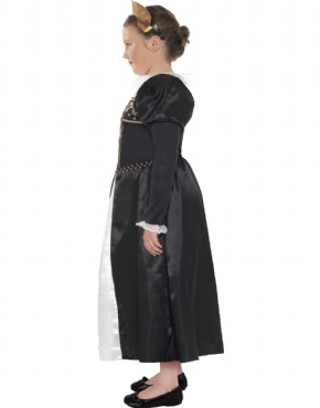 Child Horrible Histories Mary Stuart Costume - Back View