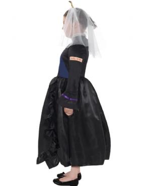 Child Horrible Histories Queen Victoria Costume - Back View