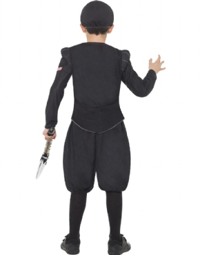 Child Horrible Histories Tudor Executioner Costume - Side View