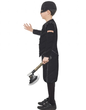 Child Horrible Histories Tudor Executioner Costume - Back View