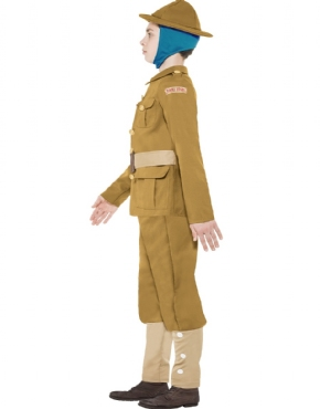 Child Horrible Histories WWI Boy Costume - Back View
