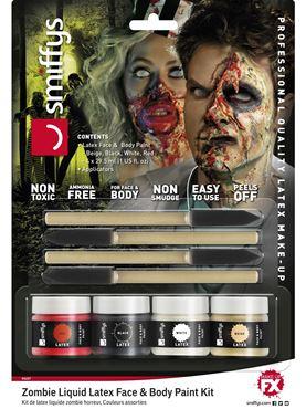 Horror Zombie Liquid Latex Kit - Back View