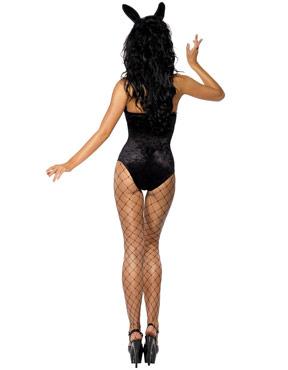 Adult Hostess Costume Black - Back View