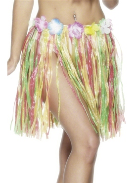 Adult Hula Skirt Multi-Coloured